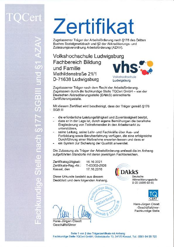 Volkshochschule Ludwigsburg